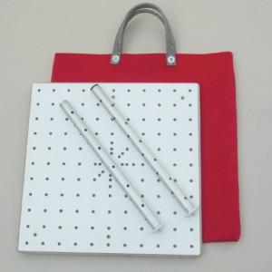 Lieferumfang: Transporttasche, Grundplatte, 2 Basissäulen mit Kreuzlochbohrung